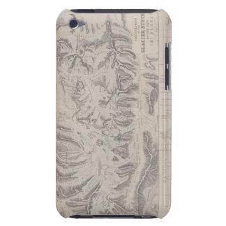 Map of Glacier Systems of the Alps Barely There iPod Case