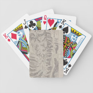 Map of Glacier Systems of the Alps Bicycle Playing Cards
