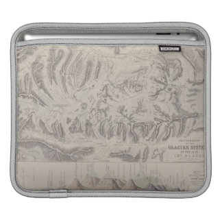 Map of Glacier Systems of the Alps iPad Sleeve