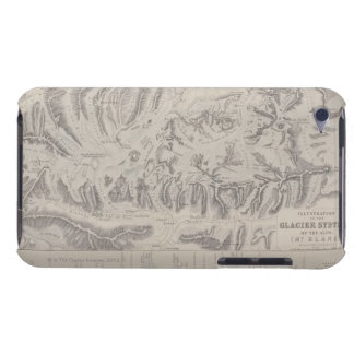 Map of Glacier Systems of the Alps iPod Touch Cover
