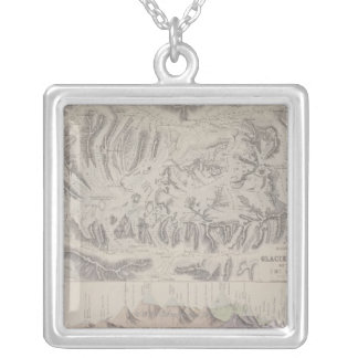 Map of Glacier Systems of the Alps Custom Necklace