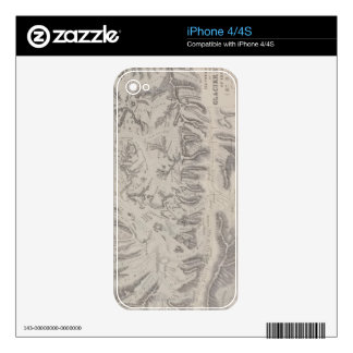 Map of Glacier Systems of the Alps Skin For iPhone 4S