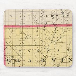 Map of Gladwin County, Michigan Mouse Pad