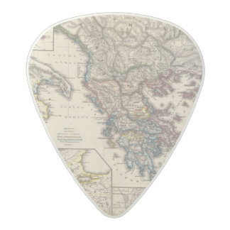 Map of Graecia, Macedonia, Thracia Acetal Guitar Pick
