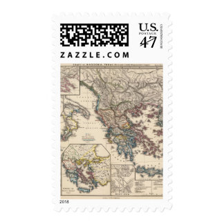 Map of Graecia, Macedonia, Thracia Postage