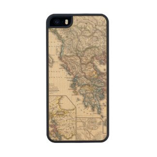 Map of Graecia, Macedonia, Thracia Carved® Maple iPhone 5 Case