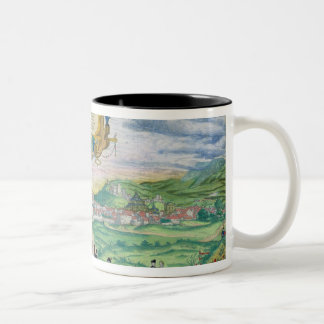 Map of Granada, from 'Civitates Orbis Terrarum' by Two-Tone Coffee Mug