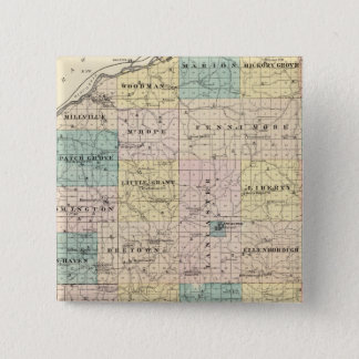 Map of Grant County and Village of Lancaster Button