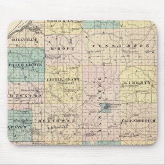 Map of Grant County and Village of Lancaster Mouse Pad