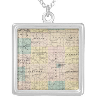 Map of Grant County and Village of Lancaster Custom Jewelry