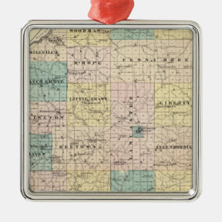 Map of Grant County and Village of Lancaster Christmas Tree Ornaments