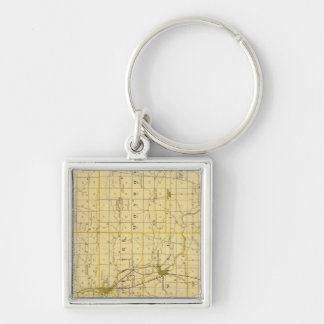 Map of Grant County Keychain