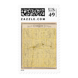 Map of Grant County Postage