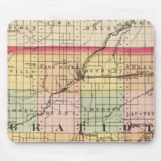 Map of Gratiot County, Michigan Mouse Pad