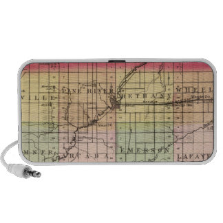 Map of Gratiot County, Michigan Portable Speakers