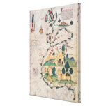 Map of Great Britain Canvas Print