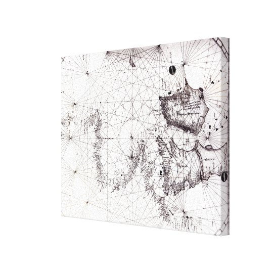 Map of Great Britain, France and Spain, 1473 Canvas Print