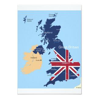 Map Of Great Britain Invitations
