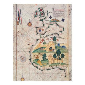 Map of Great Britain Postcard