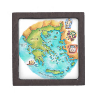 Map of Greece Isles Gift Box