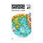 Map of Greece Isles Postage