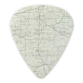 Map of Green County and Carrollton Acetal Guitar Pick