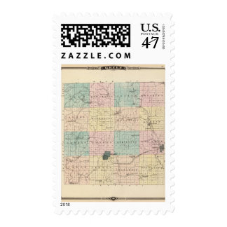 Map of Green County, State of Wisconsin Postage