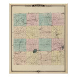 Map of Green County, State of Wisconsin Poster