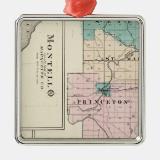 Map of Green Lake County, State of Wisconsin Ornaments