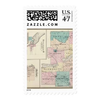 Map of Green Lake County, State of Wisconsin Postage