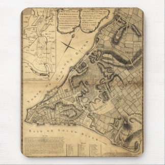 Map of Greenwich New York by John Montrésor (1766) Mouse Pad