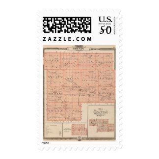 Map of Grundy County, State of Iowa Postage