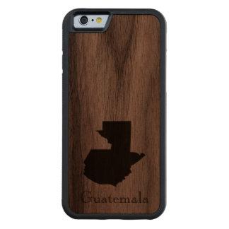 Map of Guatemala: Classic Design Carved Walnut iPhone 6 Bumper Case