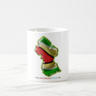 Map of Guyana Cup Classic White Coffee Mug