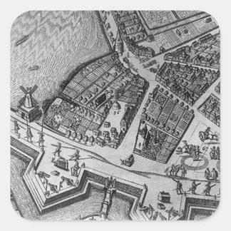 Map of Hamburg Square Sticker
