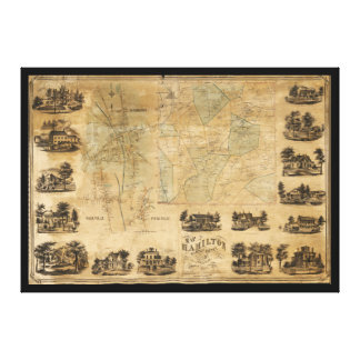 Map of Hamilton, Madison County, New York (1858) Canvas Print
