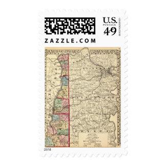 Map of Hancock, Brooke, Ohio, Marshall counties Stamps