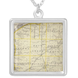 Map of Hancock County Custom Necklace