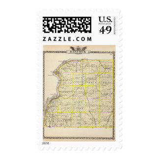Map of Hancock County Stamp