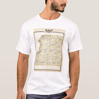 Map of Hancock County T-Shirt