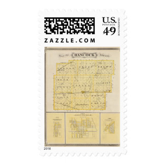 Map of Hancock County with Charlottesville Stamps