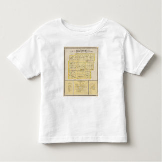 Map of Hancock County with Charlottesville Toddler T-shirt