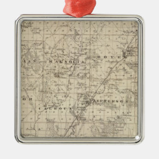 Map of Harrison County, State of Iowa Metal Ornament