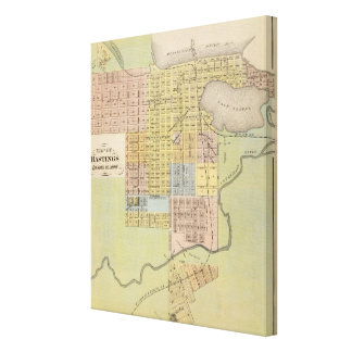 Map of Hastings, Dakota County, Minnesota Stretched Canvas Print