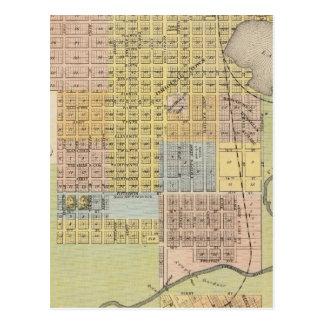 Map of Hastings, Dakota County, Minnesota Postcard