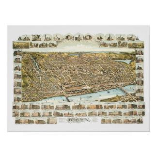 Map of Haverhill Massachusetts from 1893 Poster