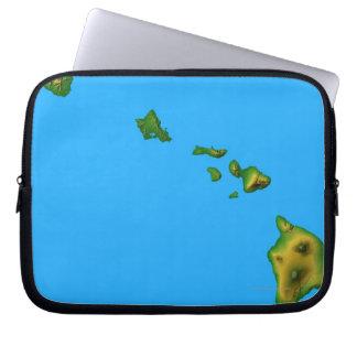 Map of Hawaii Computer Sleeves