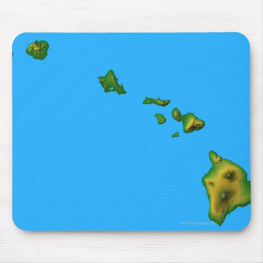 Map of Hawaii Mouse Pad