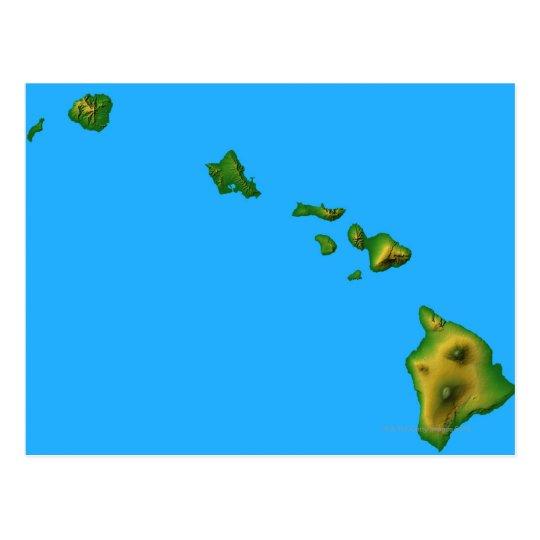 Map of Hawaii Postcard