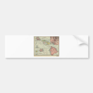 Map of Hawaii – Rand McNally (1912) Bumper Sticker